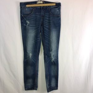 Free People FP Distressed Jeans Ankle Length